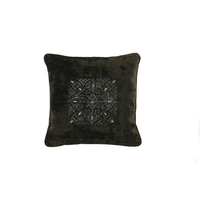 Quinn Velvet Throw Pillow Color: Green