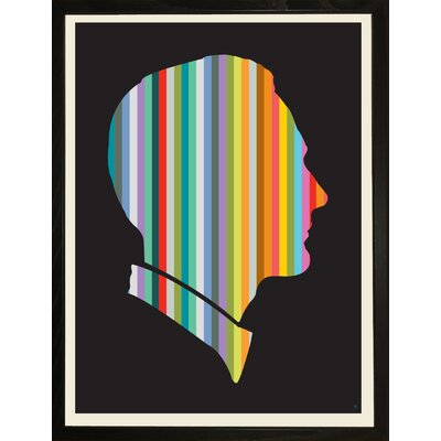 Striped Man Framed Graphic Art Striped man