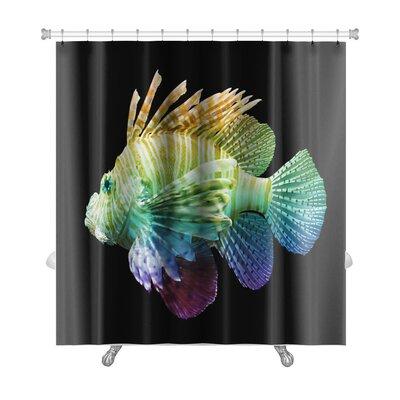 Fish Pterois Volitans, Lionfish, Unique Rainbow Premium Shower Curtain