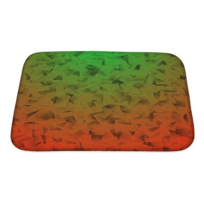 Simple Abstract Gradient In Cubism Style Bath Rug Size: Small