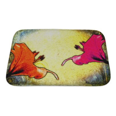 Flowers Painting Digitally Mastered Bath Rug Size: Large