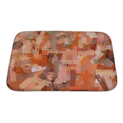 Art Beta Abstract Chalk Strokes Pattern Digitally Created Bath Rug Size: Small