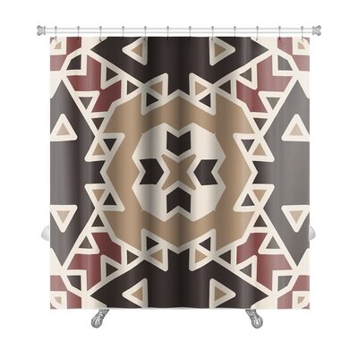 Creek Flat Ethnic Geometrical Ornament Tiles Premium Shower Curtain