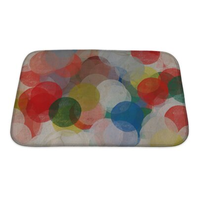 Art Beta Abstract Paint Smudged Circles Colorful Grungy Bath Rug Size: Small
