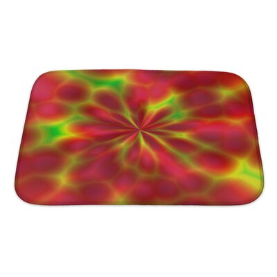 Art Beta Abstract Pattern of Fantasy Fireworks Fractals Bath Rug Size: Small