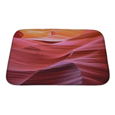 Landscapes Antelope Canyon Bath Rug Size: Small