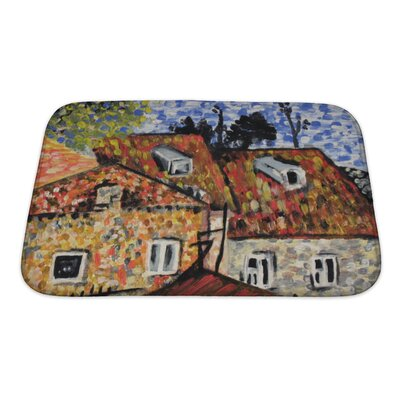 Art Alpha Painting Bath Rug Size: Small
