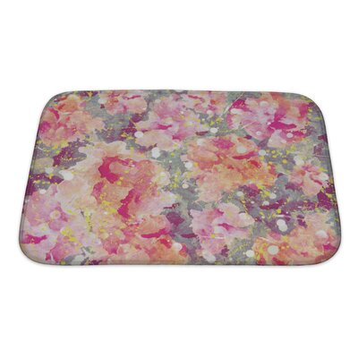Art Primo Watercolor Flower Bath Rug Size: Small