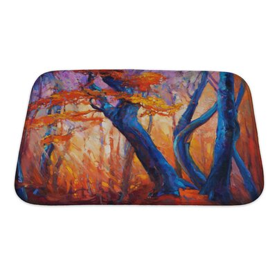 Gamma Beautiful Autumn Tree Modern Impressionism Bath Rug Size: Small