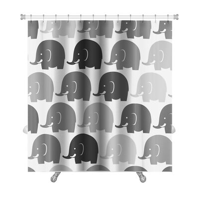 Animals Elephants Pattern Premium Shower Curtain
