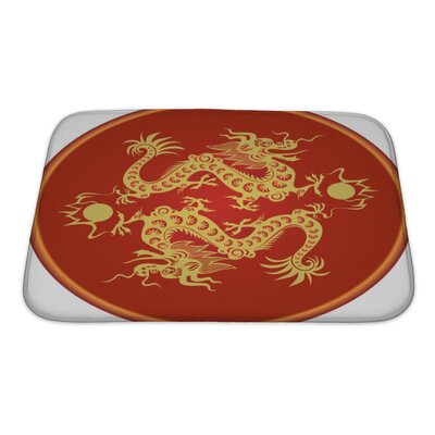 Gecko Traditional Chinese Dragon Art Symbol Bath Rug Size: Small