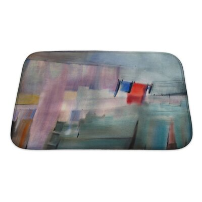 Art Alpha Watercolor Painted Abstract Picture Bath Rug Size: Small