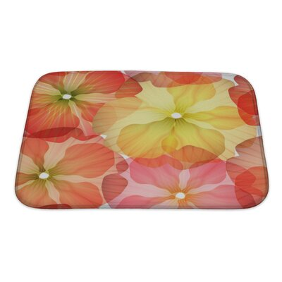 Flowers Bright Floral Isolated Bath Rug Size: Small