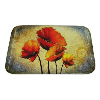 Art Touch Floral Digital Painting Bath Rug Size: Small
