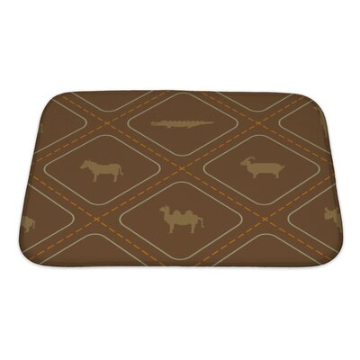 Animals Wild Animals Bath Rug Size: Small