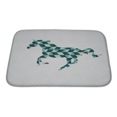 Animals Horse Pattern Bath Rug Size: Small