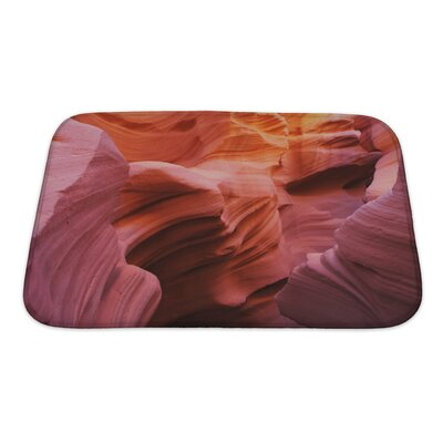 Landscapes Antelope Canyon in the Navajo Indian Reservation Bath Rug Size: Small
