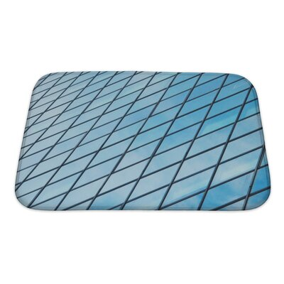 Simple Windows of a Modern Building Bath Rug Size: Small