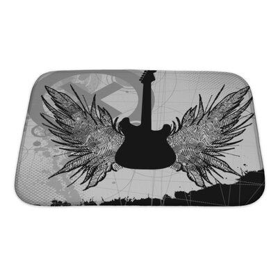 Instruments Rock Guitar Bath Rug Size: Small