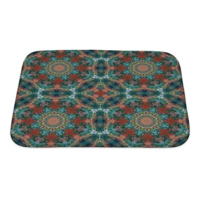 Kilo Artistic Geometric Colorful Pattern, Painting in Oils Bath Rug Size: Small