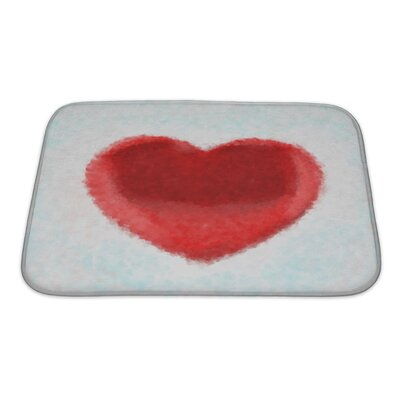 Human Touch Painted Heart Impressionism Digital Painting Bath Rug Size: Small