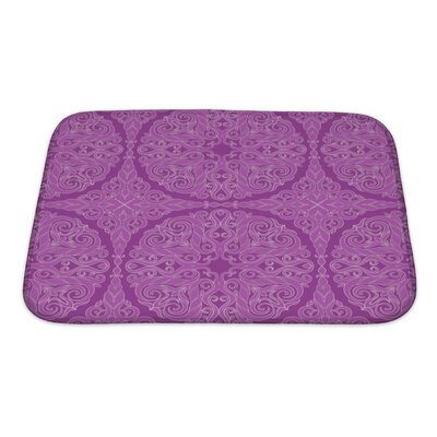 Cappa Retro Leaf on a Background Bath Rug Size: Small