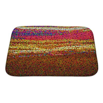 Art Alpha Abstract Blurred Blurred Effect, Rainbow Gradient Bath Rug Size: Small