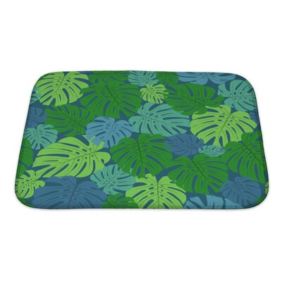Leaves with Leaves Bath Rug Size: Small
