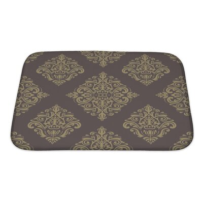 Primo Geometric Pattern Fine Traditional Fine Ornament with Oriental Elements Bath Rug Size: Small