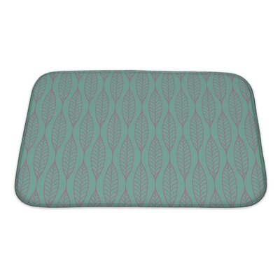 Gamma Stylized Leaf Pattern Bath Rug Size: Small