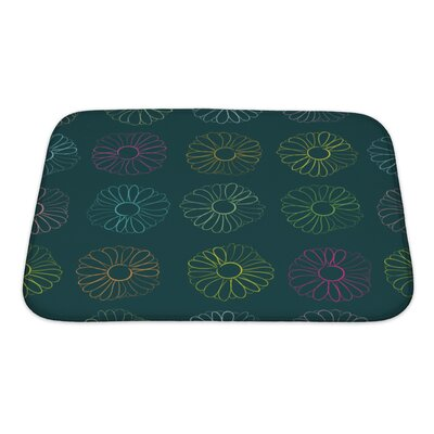 Slide Contours of Camomiles Bath Rug Size: Small