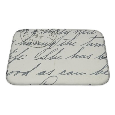 Vintage Hand Writing on a Letter from Houston, Postmark from 1949 Bath Rug Size: Small