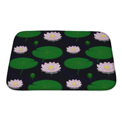 Cappa Evening Pond with Lilies Bath Rug Size: Small