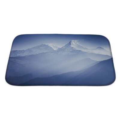 Landscapes Annapurna Mountains in Sunrise Light Bath Rug Size: Large