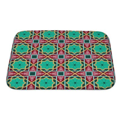 Charlie Oriental Traditional Ornament, East Pattern Geometric Bath Rug Size: Small