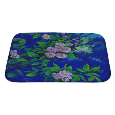 Flowers Oil Painting of Spring Flowers on Canvas Bath Rug Size: Large