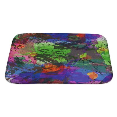 Art Touch Abstract Acrylic and Watercolor Painted Paper Bath Rug Size: Large