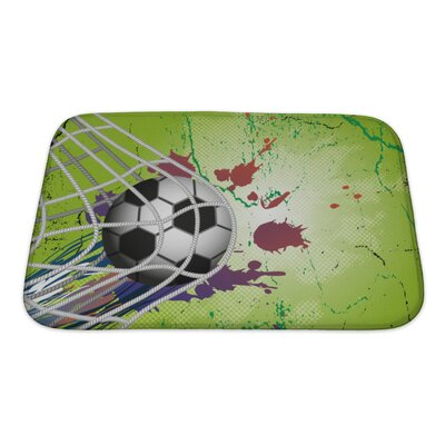 Soccer Soccer Ball Bath Rug Size: Small