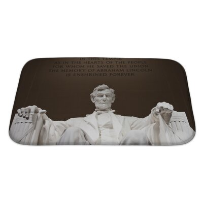Patriotic Abraham Lincoln at the Lincoln Memorial in Washington DC Bath Rug Size: Large