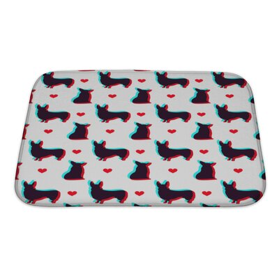 Animals Corgi Dog Pattern Bath Rug Size: Small
