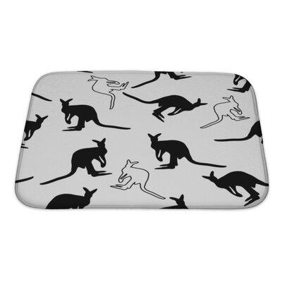 Animals Kangaroo Bath Rug Size: Small