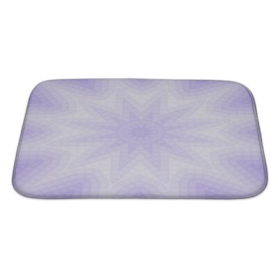 Primo Geometric Lilac of Squares Pattern Bath Rug Size: Large