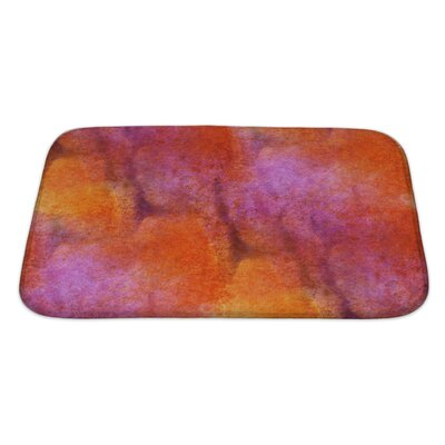 Art Primo Impressionism Artist Watercolor Wallpaper of Handmade Bath Rug Size: Large