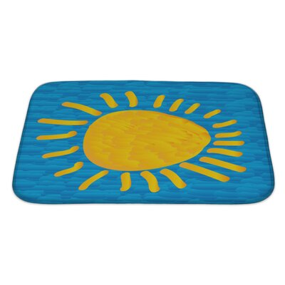 Art Soft the Sun on Blue Sky in the Style of Impressionism Bath Rug Size: Large