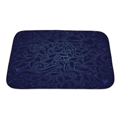 Gecko Floral Multicolored Mosaic Leaf Pattern Bath Rug Size: Small