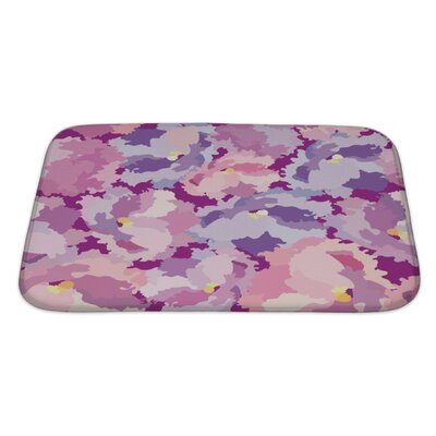 Charlie Flowers Floral with Flowers Flourish Repeating Pattern Bath Rug Size: Large