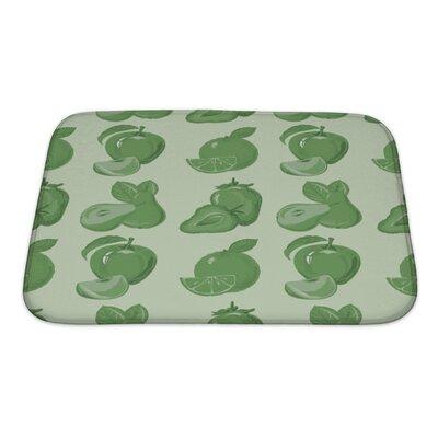 Slide of Ripe Strawberry, Apple Bath Rug Size: Small