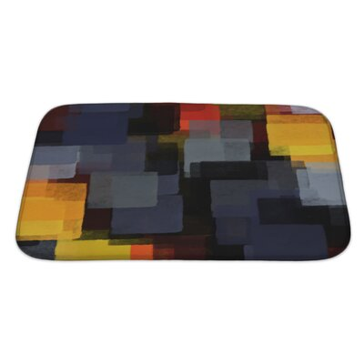 Art Hard Digital Abstract Paint Bath Rug Size: Large