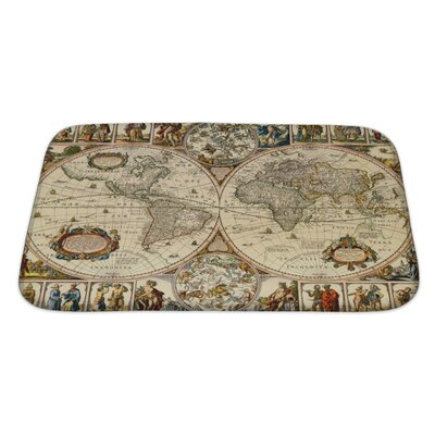 Earth Old Paper World Map Bath Rug Size: Large