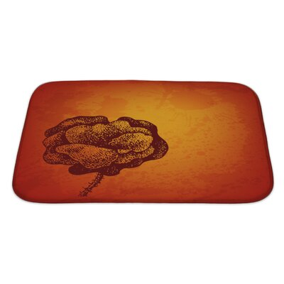 Gecko Artistic Card with Ink Style Poppy Flower Bath Rug Size: Large